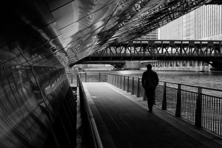 man-under-bridge