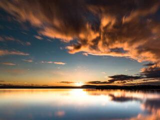 sunset-at-lake