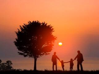 湖にいる、とある家族